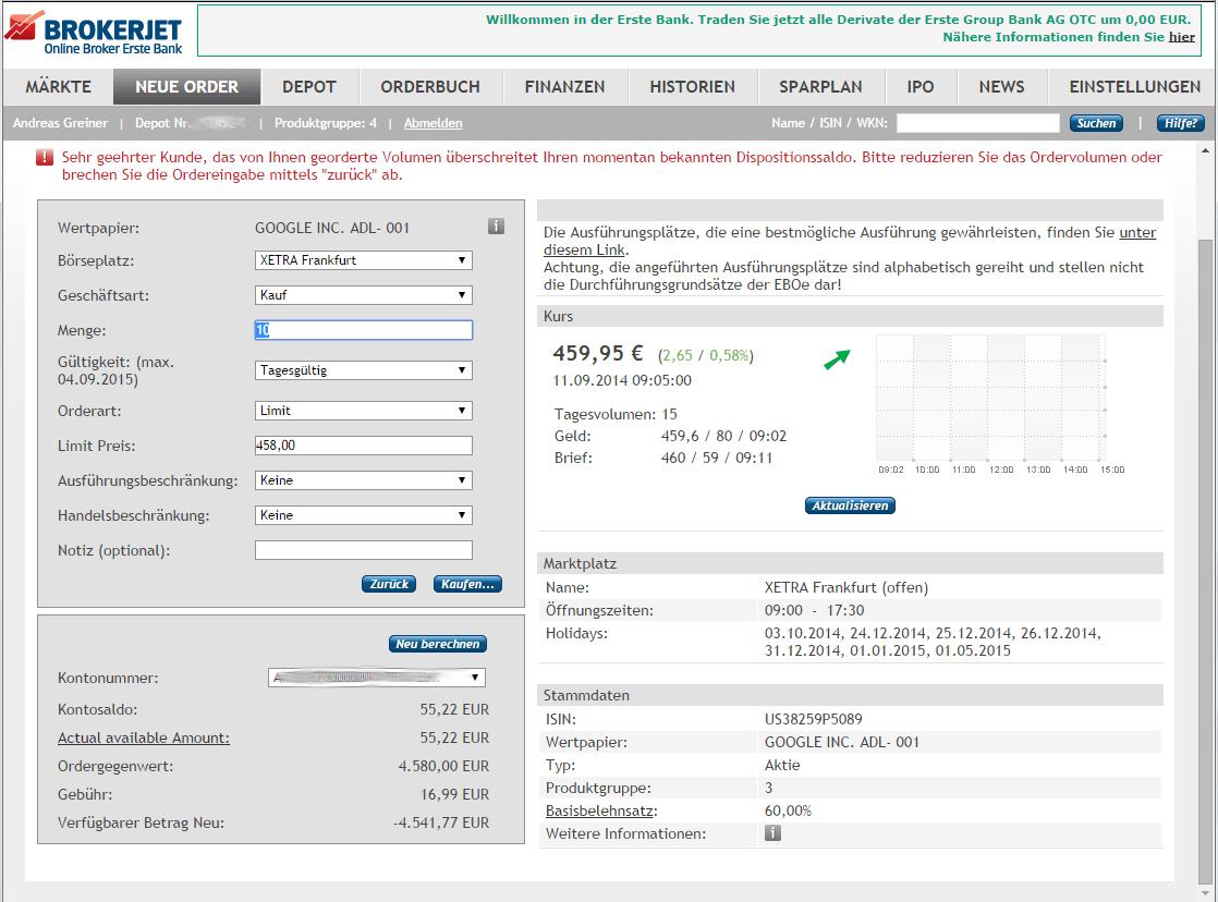 aktien online kaufen test
