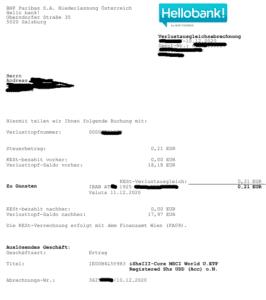 Ausschüttungsgleiche Erträge bei der Hello Bank - Seite 2